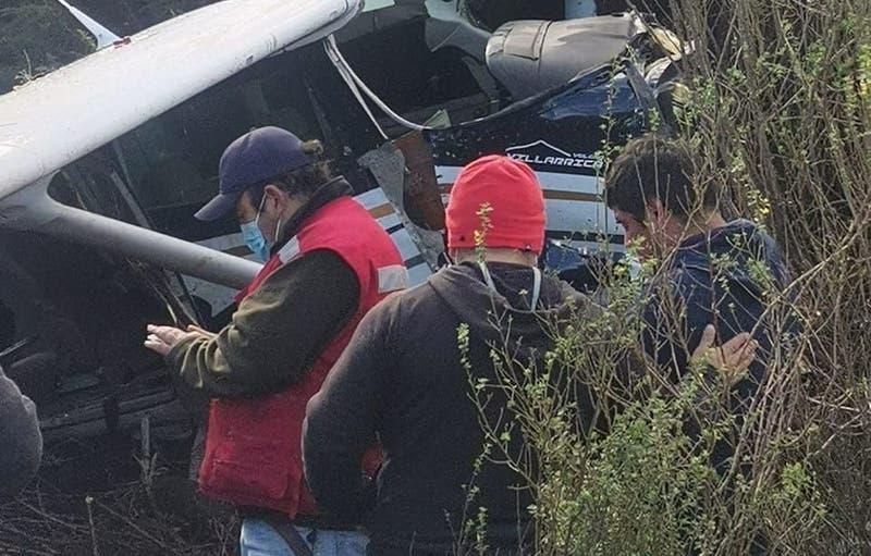 Avioneta con tripulantes cae a tierra cuando se trasladaba desde Isla Mocha a Tirúa