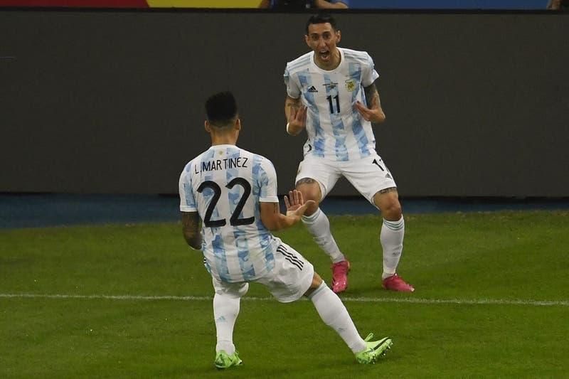La gran definición de Di María que puso a Argentina en ventaja sobre Brasil en final de Copa América