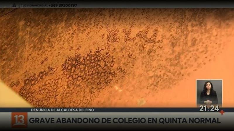 Escuela Abate Molina en peligro: Hasta hongos en las paredes