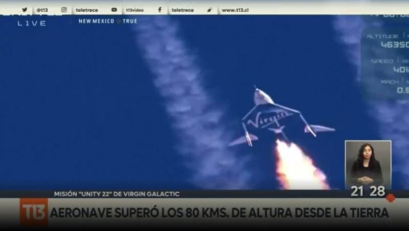 Misión cumplida: Richard Branson logra histórica travesía al espacio