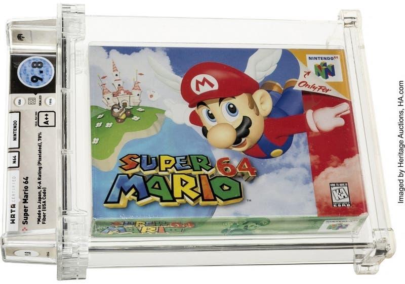Un cartucho de Super Mario 64 fue rematado en USD 1,56 millones, nuevo récord de un videojuego
