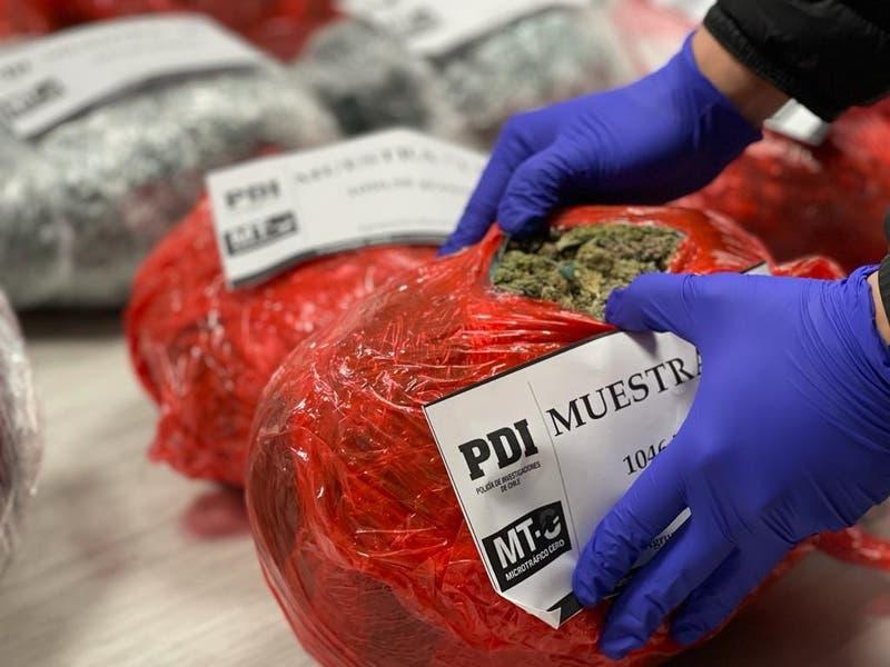 PDI detiene a dos personas en incautación de 70 kilos de marihuana