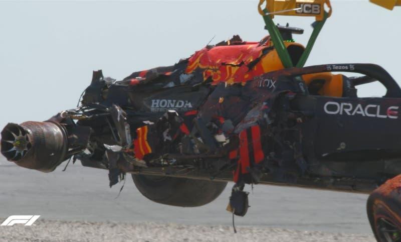Fórmula 1: así quedó el vehículo de Verstappen tras grave accidente con Hamilton