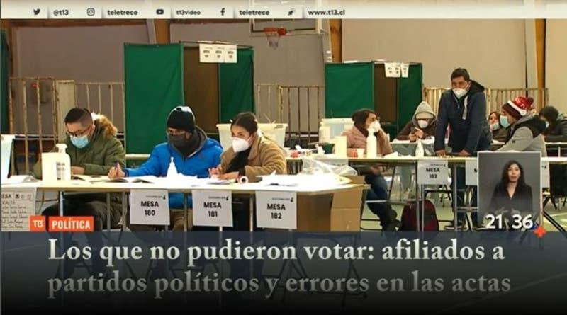 [VIDEO] Los que no pudieron votar: Afiliados a partidos políticos y errores en las actas