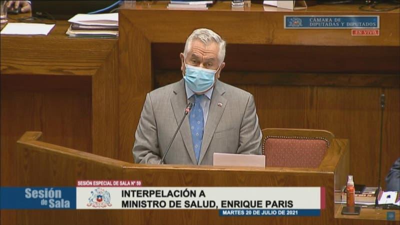 Tensa interpelación al ministro de Salud, Enrique Paris