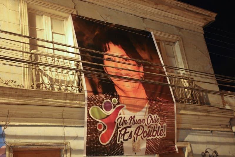 Sede de la DC en Copiapó adelanta candidatura presidencial de Yasna Provoste con gigantografía
