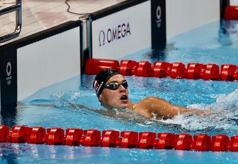 Tokio 2020: Eduardo Cisternas ganó su serie de 400 metros libres en su debut olímpico