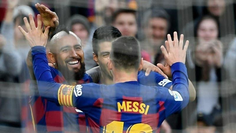 El golazo del Barcelona que recordó Arturo Vidal y que sacó reacciones de Luis Suárez y Gerard Piqué