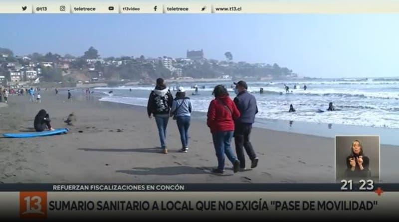 """Refuerzan fiscalización de """"pase de movilidad"""" en zonas costeras"""