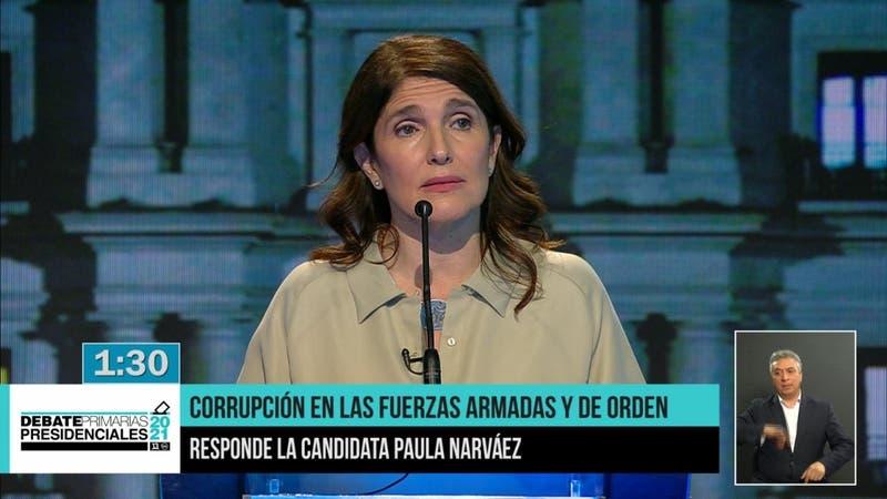 Paula Narváez promete que terminará con sistema de pensiones de las Fuerzas Armadas