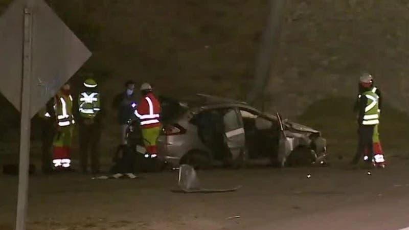 [VIDEO] Grave accidente: Un muerto y dos heridos tras choque y volcamiento en Ruta 68