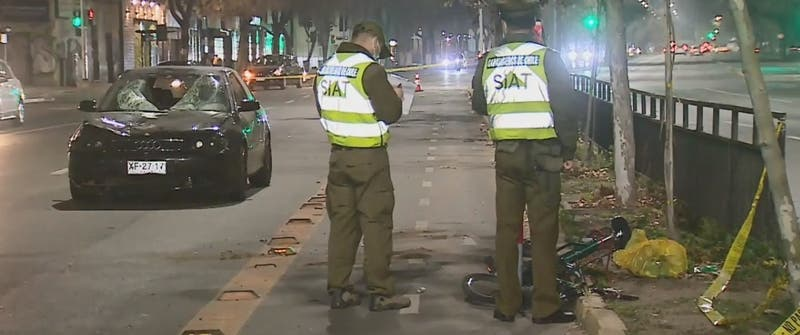 Ciclista falleció tras ser atropellado en el centro de Santiago