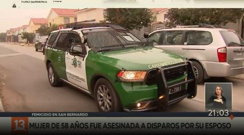 Mujer fue asesinada a disparos por su esposo en San Bernardo