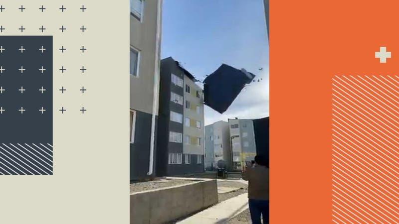 Destruyeron techos y muros: Vientos de hasta 145 km/h causaron estragos en Punta Arenas