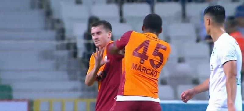 Liga de Turquía comenzó con todo: defensa del Galatasaray es expulsado por golpear a un compañero