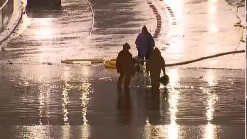 [VIDEO] Sistema Frontal: Gran Avenida nuevamente anegada producto de las lluvias