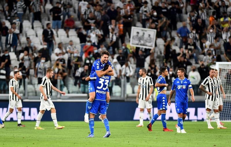La Juve, ya sin CR7, sufrió sorpresiva derrota de local ante el Empoli