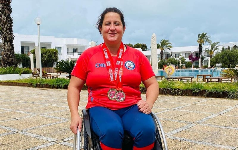 Francisca Mardones logra medalla de oro con récord mundial en lanzamiento de la bala