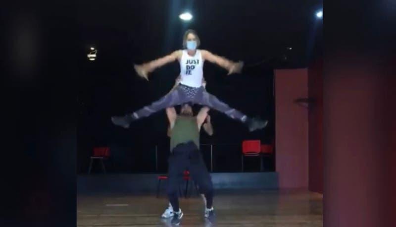 Video muestra la fuerte caída que sufrió Rocío Marengo durante el ensayo para un programa de baile