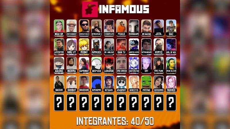 Infamous: El servidor chileno de Minecraft que reunirá a diversos streamers latinoamericanos