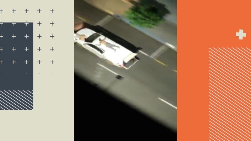 Violento asalto en Brasil: Ataron a rehenes a los autos como escudos humanos