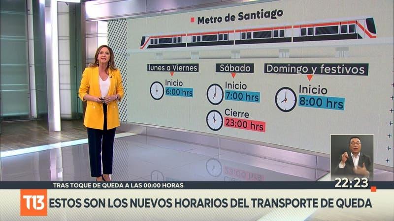 Estos son los nuevos horarios del transporte público por el retraso del toque de queda