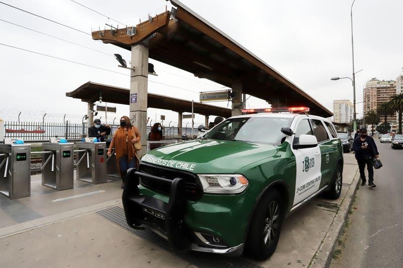 Un herido a bala tras asalto frustrado en estación Bellavista de Valparaíso