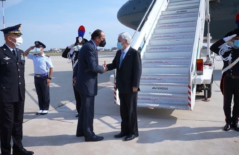 Presidente Piñera llega a Roma para reunirse con máximas autoridades de Italia