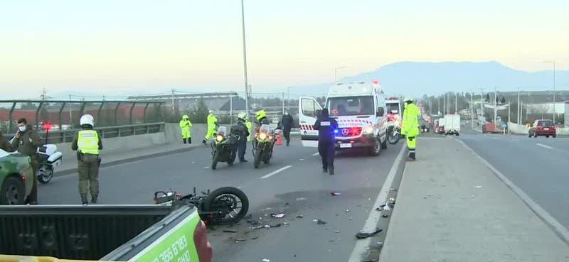 Accidente de tránsito en Quilicura deja un motorista fallecido