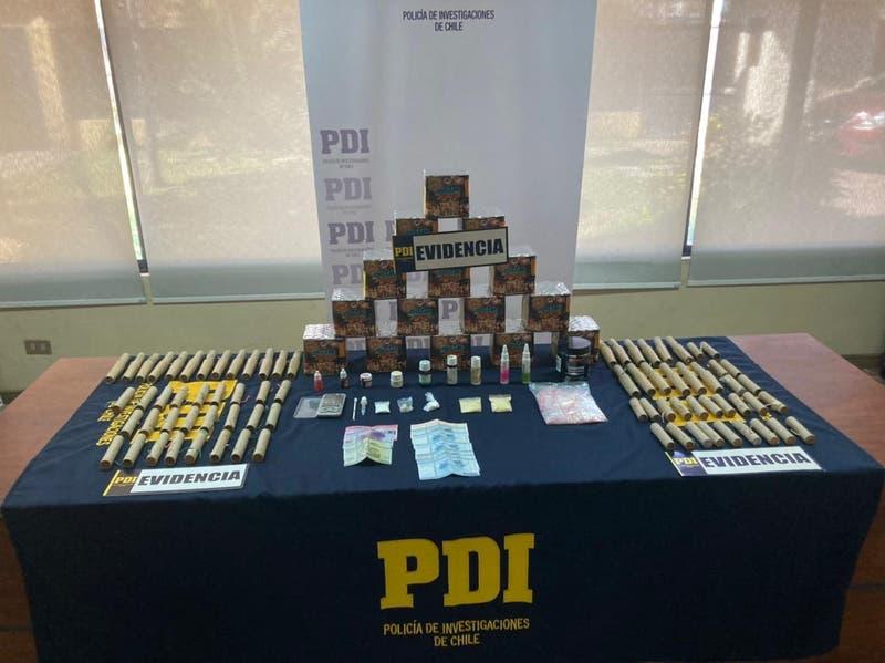 PDI detiene a joven que almacenaba más de 60 fuegos artificiales, éxtasis, cocaína y tussy