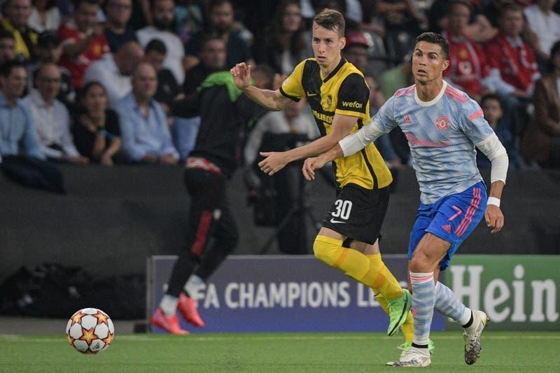 Gol de Cristiano no bastó: Young Boys vence en último minuto al Manchester United por la Champions