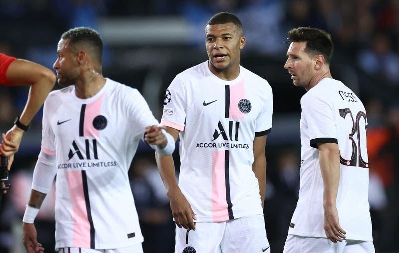 PSG no pudo con el Brujas y solo consiguió un empate en el debut de Messi en la Champions