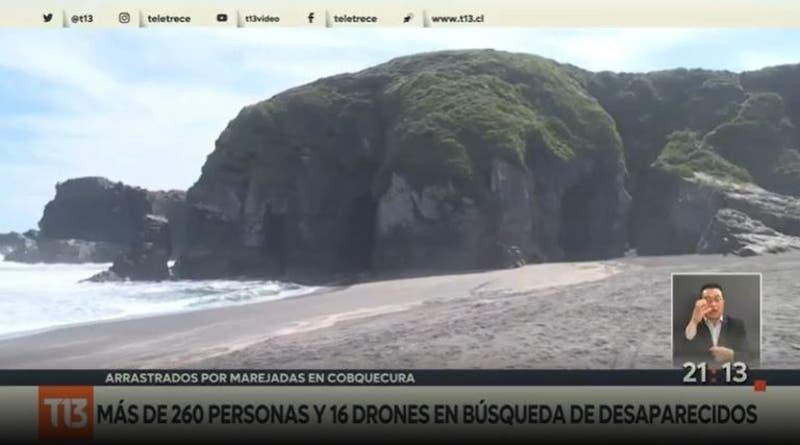 [VIDEO] Por cielo, mar y tierra: intensifican búsqueda de 3 desaparecidos