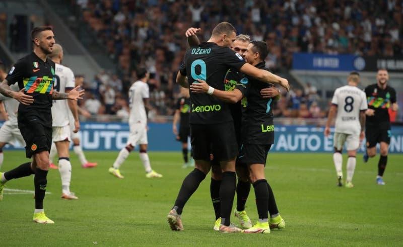 El Inter, con Alexis dando una asistencia, goleó 6-1 al Bologna de Gary Medel