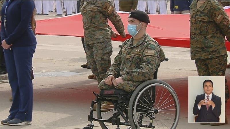 Parada militar: Militar que resultó con sus piernas amputadas por atropello participó de ceremonia