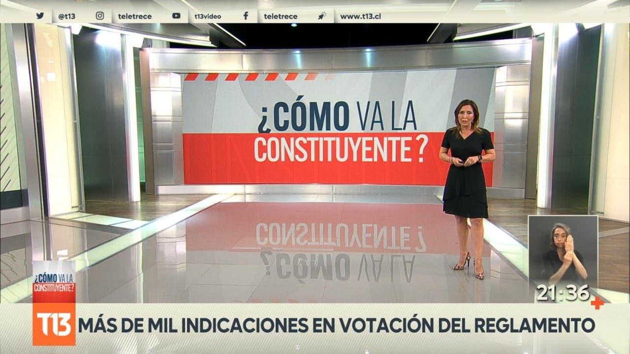 [VIDEO] Cómo va la Constituyente: Más de mil indicaciones en votación del reglamento
