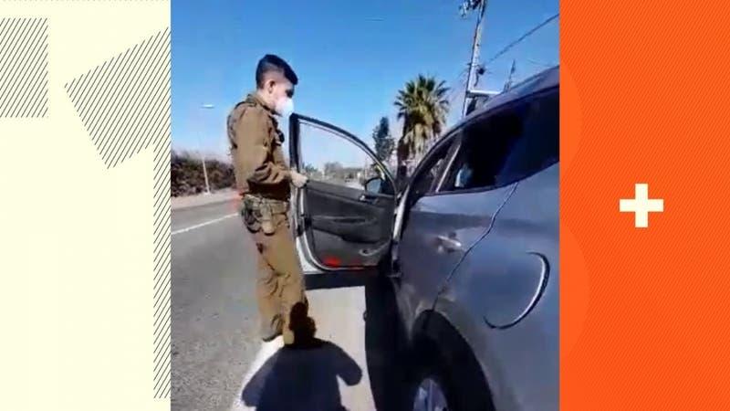 [VIDEO] Conductor fue detenido tras intentar sobornar a carabineros con 46 mil pesos en María Pinto