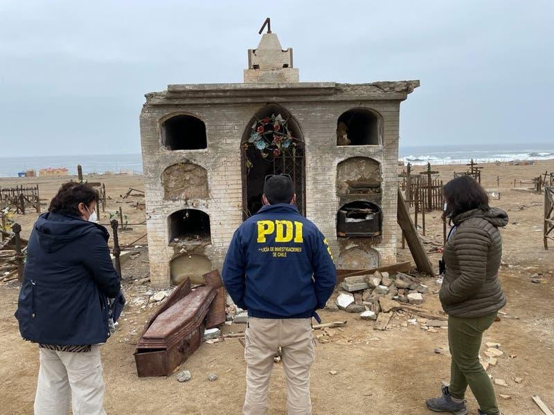 Tocopilla: PDI investiga profanación de tumba y daños en cementerio