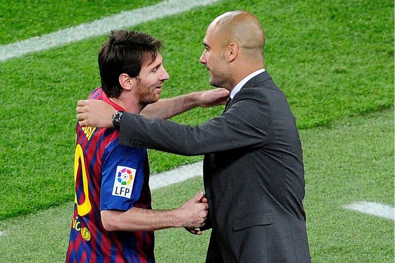 Un curioso SMS y diálogo cortado: Messi y Guardiola se reencuentran en el PSG-Manchester City