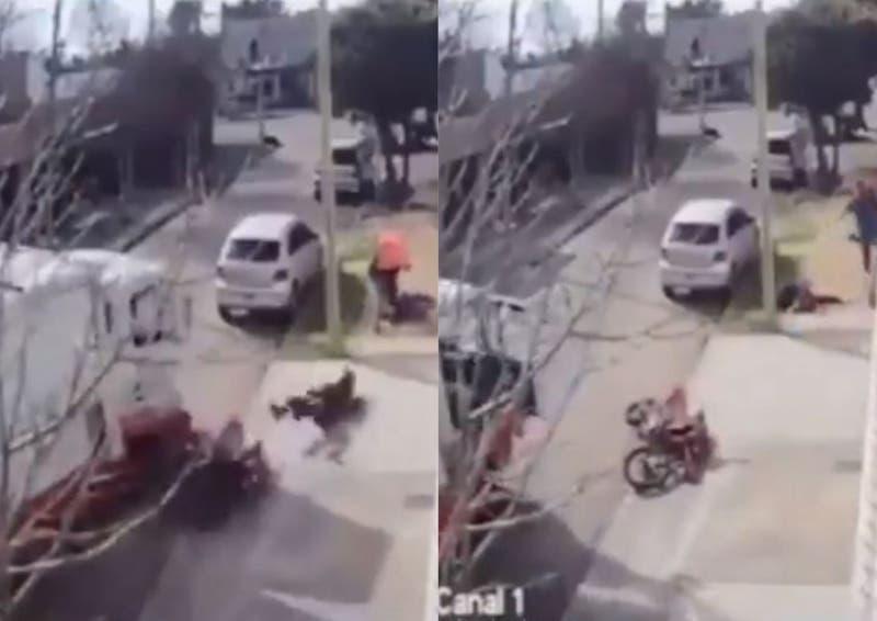 [VIDEO] México: Vecinos atropellan y golpean a ladrón para frustrar asalto