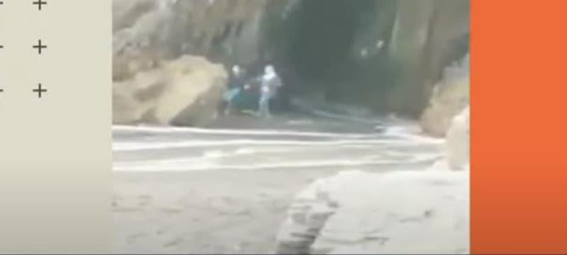 [VIDEO] Temeraria acción de turistas en playa de Cobquecura