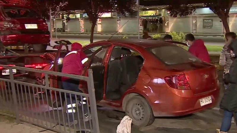 Dos personas resultan heridas tras choque en La Florida: Conductor iba en estado de ebriedad