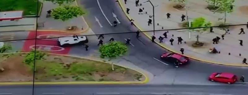 Incidentes se registran en inmediaciones de Plaza Italia