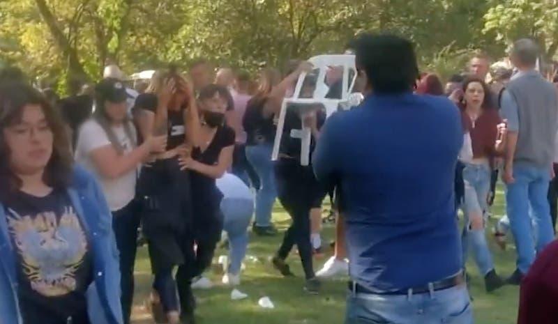 Celebración del día de la madre terminó en batalla campal en Argentina