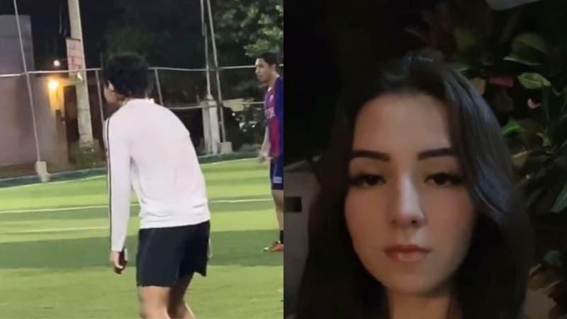 Joven acusa que su novio jugó fútbol con el celular en la mano para no dejárselo a ella