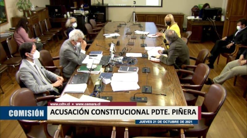 El insólito momento que se vivió en la comisión que revisa la acusación contra el Presidente Piñera