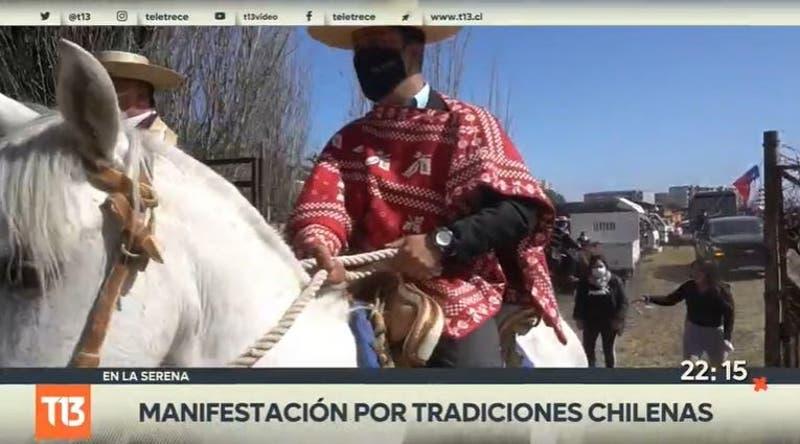 [VIDEO] Manifestación por tradiciones chilenas