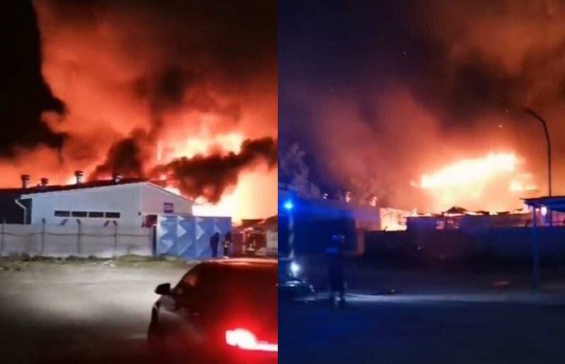 [VIDEO] Incendio en fábrica de quesos Quillayes alerta a vecinos de Calera de Tango
